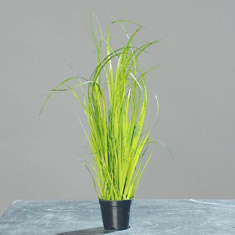 gras im schwarzen topf h he ca 35cm kunstblumen pflanzen tewa. Black Bedroom Furniture Sets. Home Design Ideas