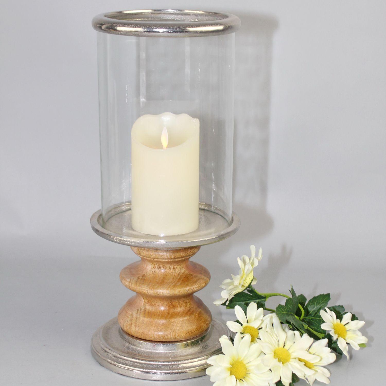 Modernes Windlicht Br Holz Aluminium Glas Keramik Glas Tewa Shop De