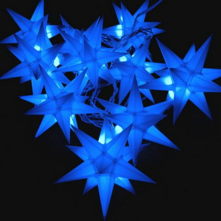 STAR LED Lichterkette blau mit Timerfunktion